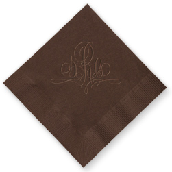 Paris Monogram Embossed Napkins