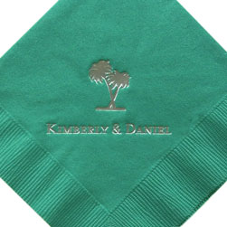 Palm Tree Foil-Stamped Napkins