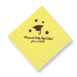 Cap and School Foil-Stamped Napkins