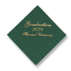 Graduation Foil-Stamped Napkins