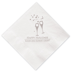 Champagne Holiday Napkins