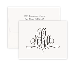 Paris Monogram Raised Ink Note - Double Thick