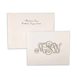 London Monogram Note - Triple Thick