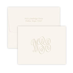 Traditional Monogram Note - Double Thick
