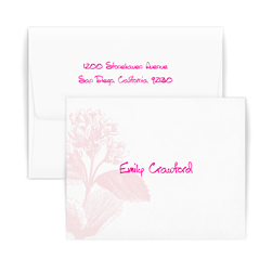 Pink Botanical Note - Double Thick