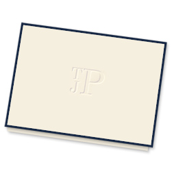 Three-Letter Monogram Note - Single Thick