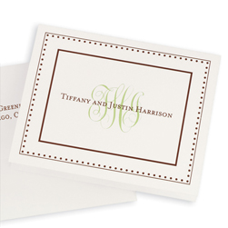 Couples Monogram Note