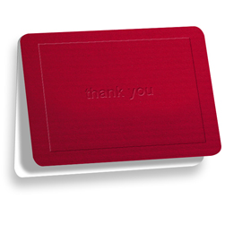 Red Thank You Note - Double Thick